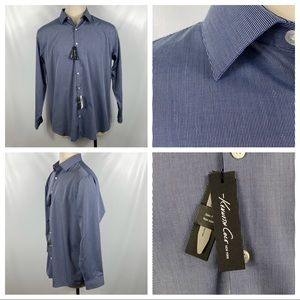 NWT Kenneth Cole Non-Iron Slim Fit Dress Shirt